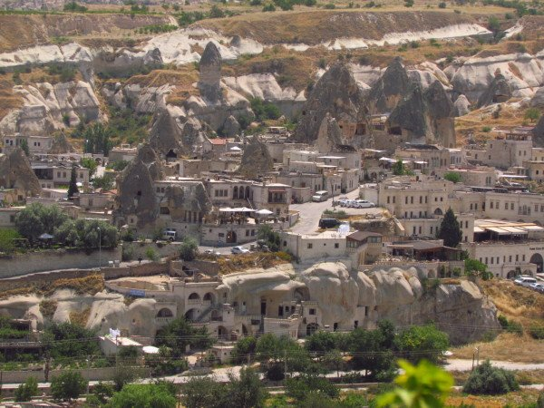 Goreme Cave hotels and fairy chimneys