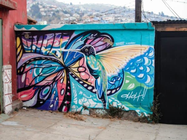 Butterfly and Hummingbird Mural Valpo
