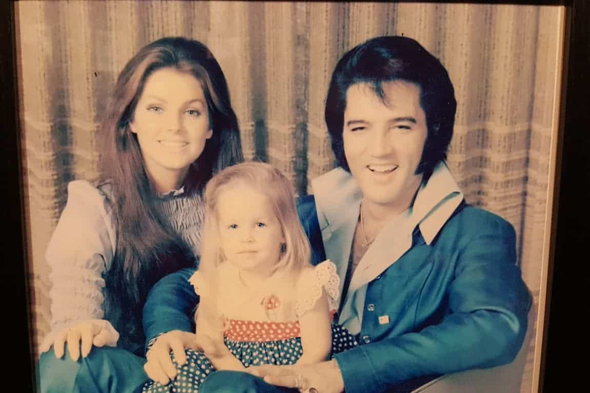 Elvis Family Photo Hanging at Graceland