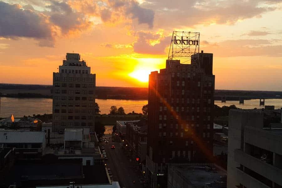 Sunset over the Mississippi