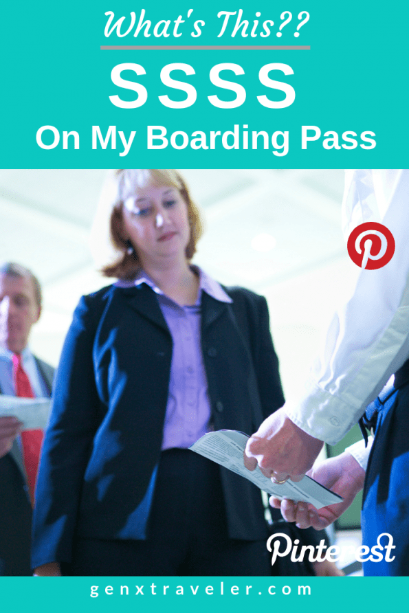 SSSS on boarding pass