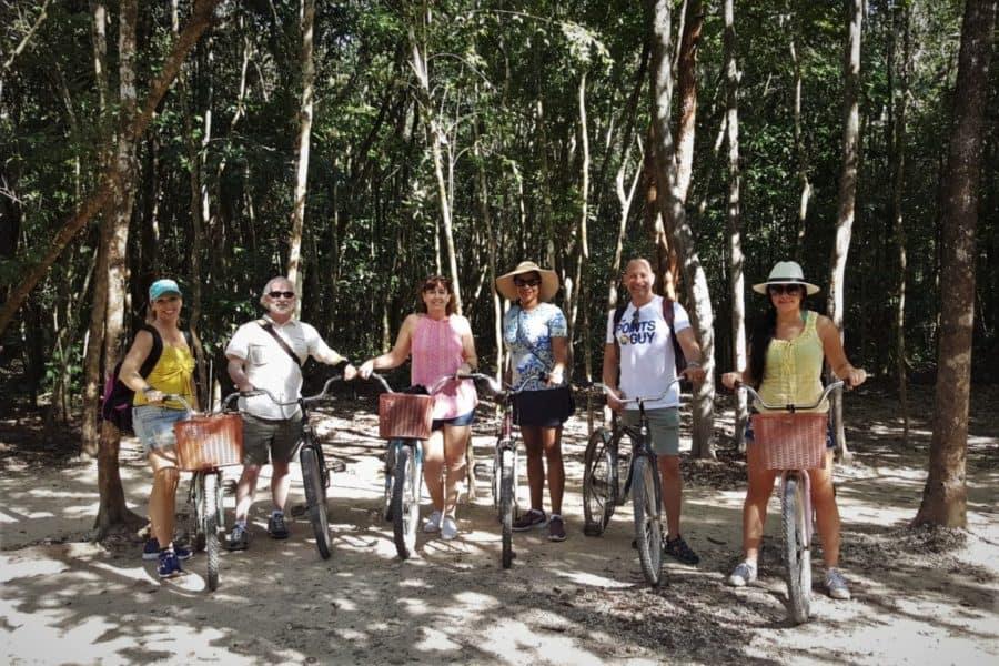 Biking in Coba