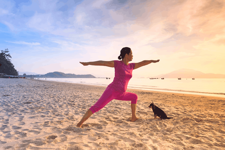 Stuck at home try Yoga outdoors