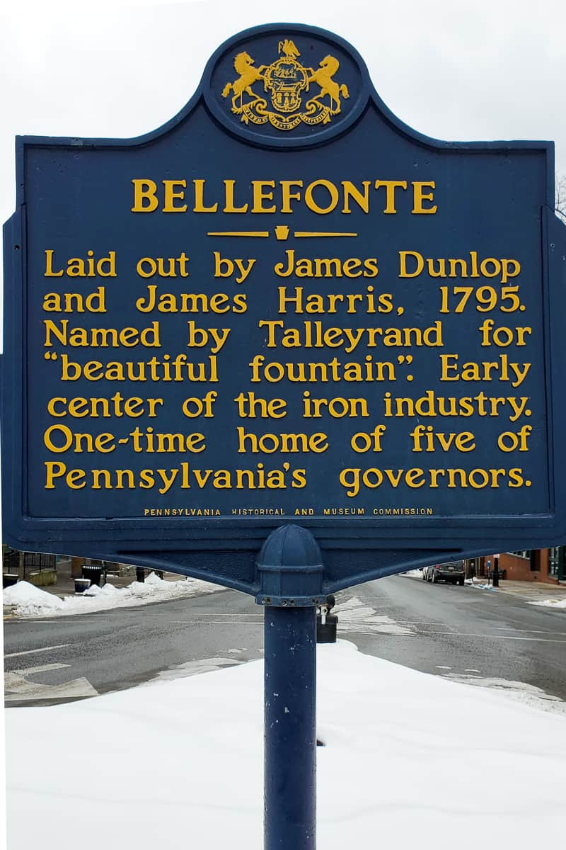 Bellefonte PA Historic Markers