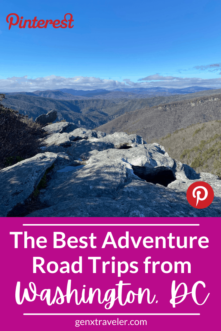 Best adventure road trips from Washington DC
