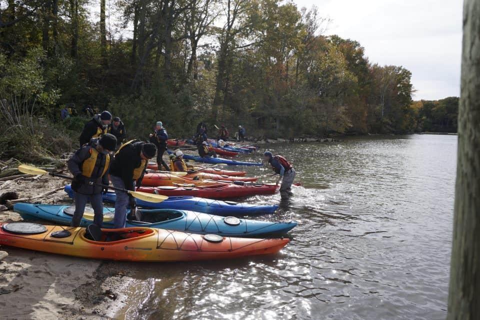 Kayaking at Mallows Bay Park